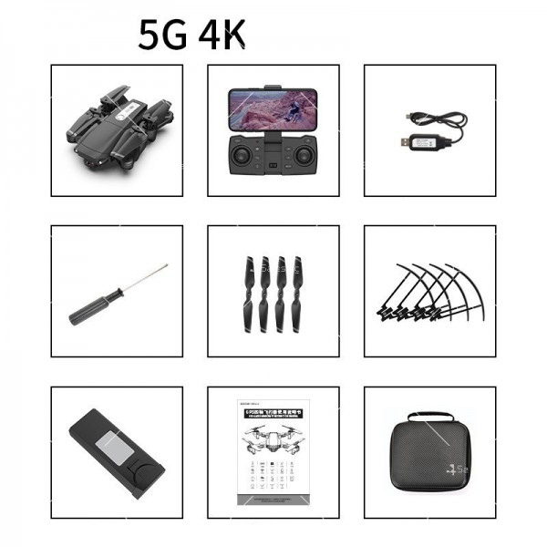 Мини сгъваем дрон 5G радиоуправляем режим и 4K HD камера-DRON H8 (5G+GPS+4K+BAG) 19