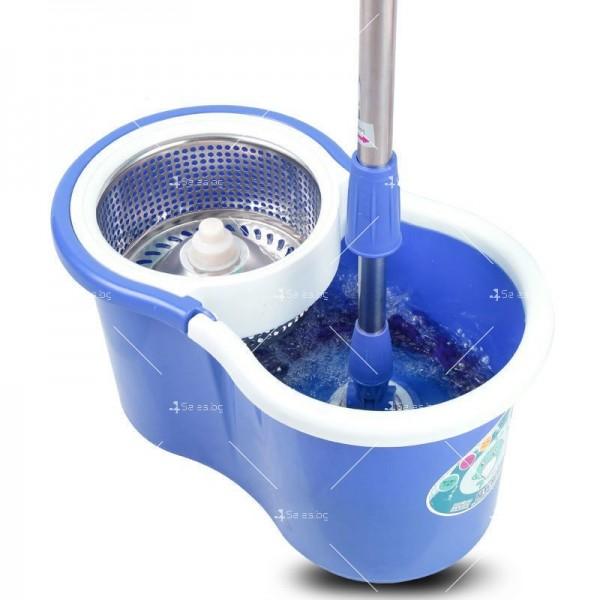 Моп за почистване на под - ламинат - spin mop 360 4
