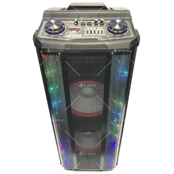 Avcrowns HS-TD1070 Парти спийкър с Bluetooth безжичен микрофон - 2X10 инча 3