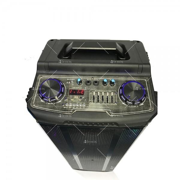Avcrowns HS-TD1070 Парти спийкър с Bluetooth безжичен микрофон - 2X10 инча 4