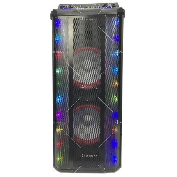 Avcrowns HS-TD1070 Парти спийкър с Bluetooth безжичен микрофон - 2X10 инча 2