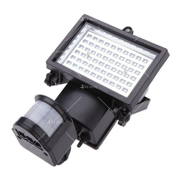 Соларен градински прожектор 60 LED и сензор за движение - H LED12 7