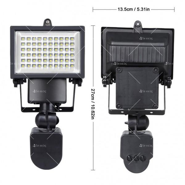 Соларен градински прожектор 60 LED и сензор за движение - H LED12 2