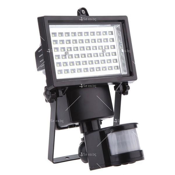 Соларен градински прожектор 60 LED и сензор за движение - H LED12 5