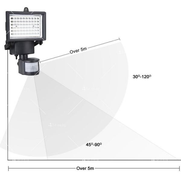 Соларен градински прожектор 60 LED и сензор за движение - H LED12 3