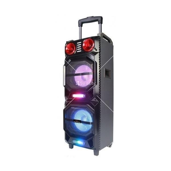 Преносима караоке тонколона Elekom EK-M210B, Bluetooth, USB, SD cart, 2 микрофона 2