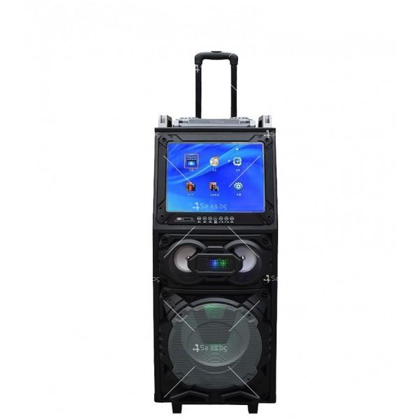Преносима караоке колона с DJ пулт, LED осветление и функционален дисплей 4