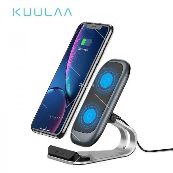 Стойка за безжично зареждане на мобилен телефон KUULAA Qi 10W - TV502 1
