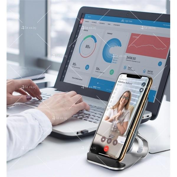 Стойка за безжично зареждане на мобилен телефон KUULAA Qi 10W - TV502 6