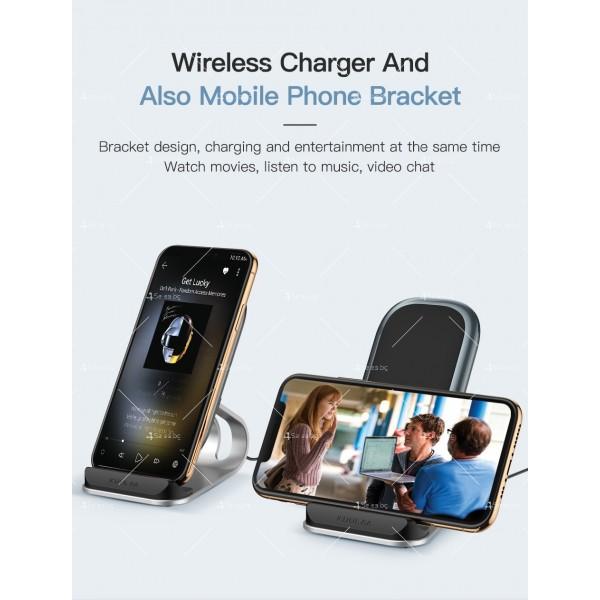 Стойка за безжично зареждане на мобилен телефон KUULAA Qi 10W - TV502 7