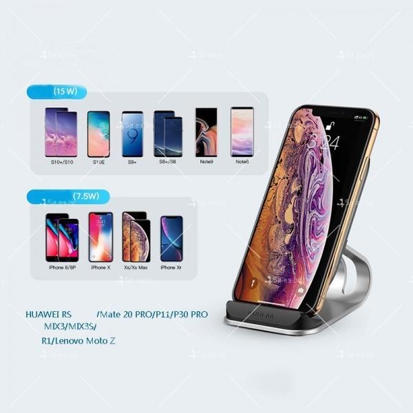 Стойка за безжично зареждане на мобилен телефон KUULAA Qi 10W - TV502 11