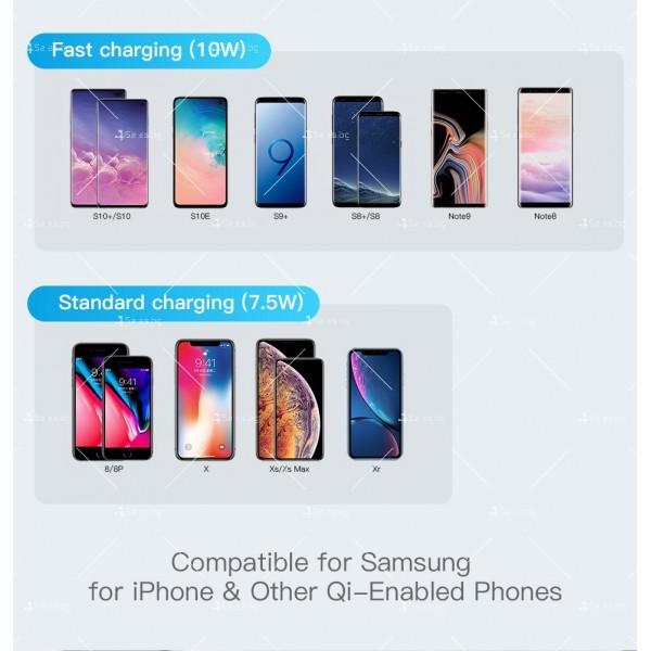Стойка за безжично зареждане на мобилен телефон KUULAA Qi 10W - TV502 13