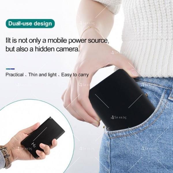 Скрита камера във формата на преносима батерия за телефон с 10-часов запис IP18 10
