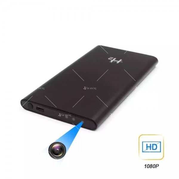 Скрита камера във формата на преносима батерия за телефон с 10-часов запис IP18 1