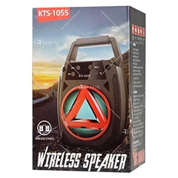Колонка KTS-1055, акумулатор, МP3, SD карта, Флашка, Bluetooth 4