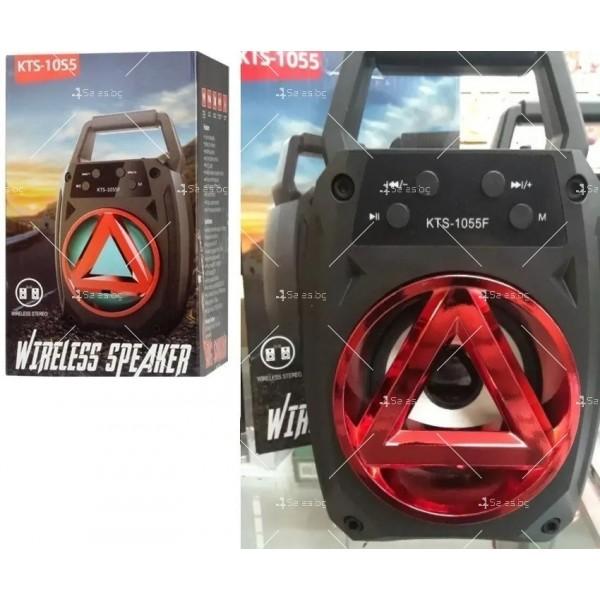 Колонка KTS-1055, акумулатор, МP3, SD карта, Флашка, Bluetooth 7