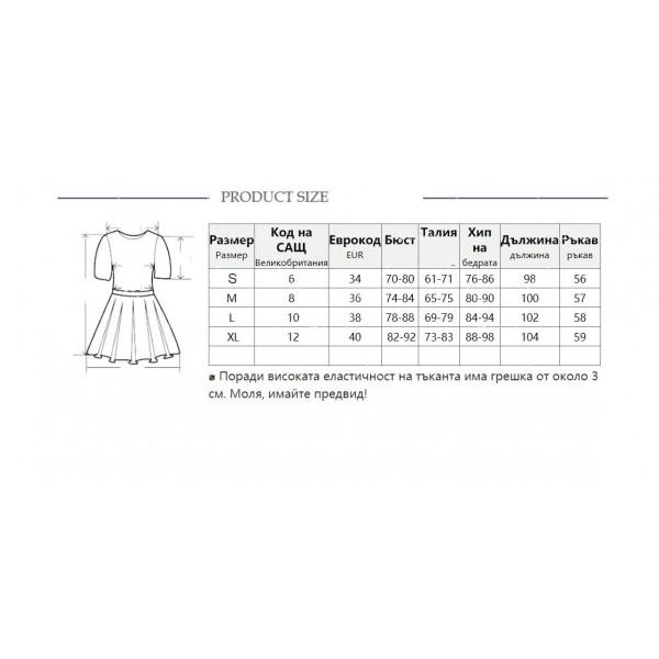 Елегантна рокля до коляното, голо рамо, един дълъг ръкав и чокър на врата FZ19 16