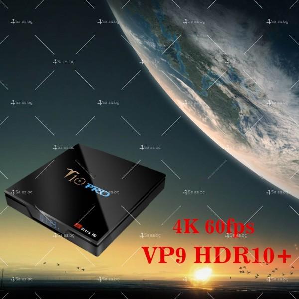 ТВ бокс T10 PRO Amlogic S905X2 с Android 8.1, LED дисплей, 4K, 4GB 5