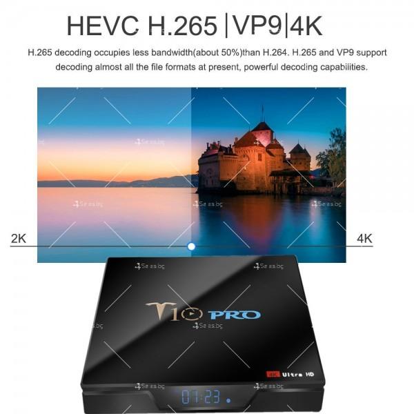 ТВ бокс T10 PRO Amlogic S905X2 с Android 8.1, LED дисплей, 4K, 4GB 6