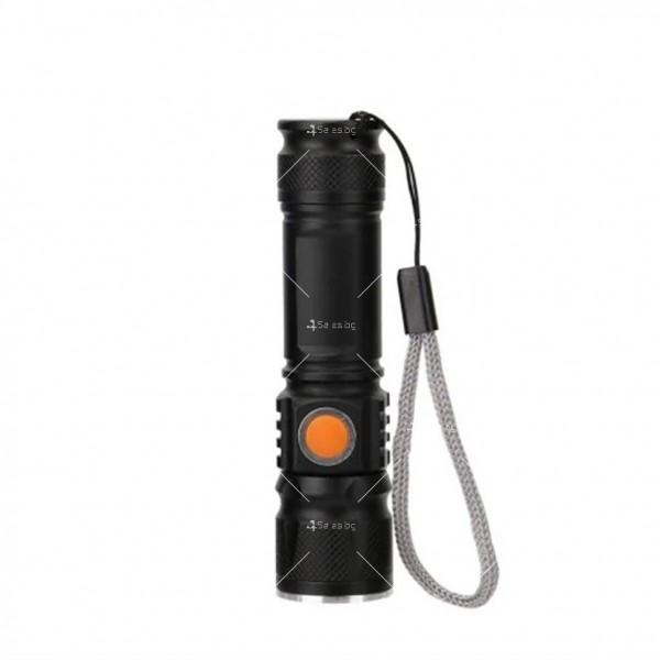 Джобно LED фенерче с USB и 3 режима на работа 4