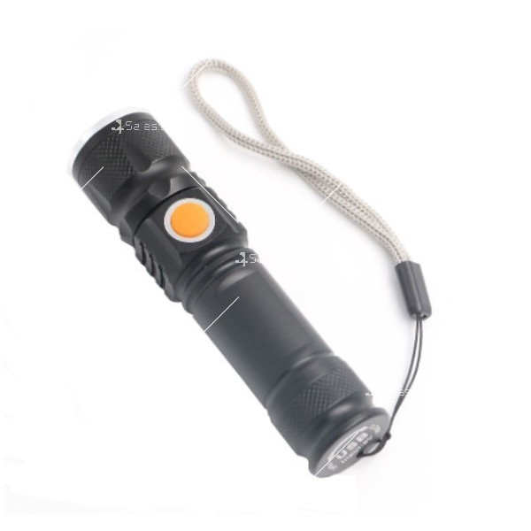 Джобно LED фенерче с USB и 3 режима на работа 13
