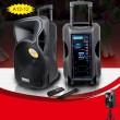 Temeisheng A12 12 Inch Subwoofer Portable Bluetooth Speaker със стойка 6