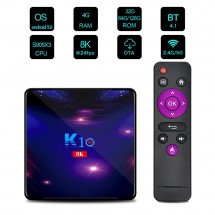 Смарт ТВ бокс K10 TV BOX Android 8K, 32GB, WiFi и Bluetooth