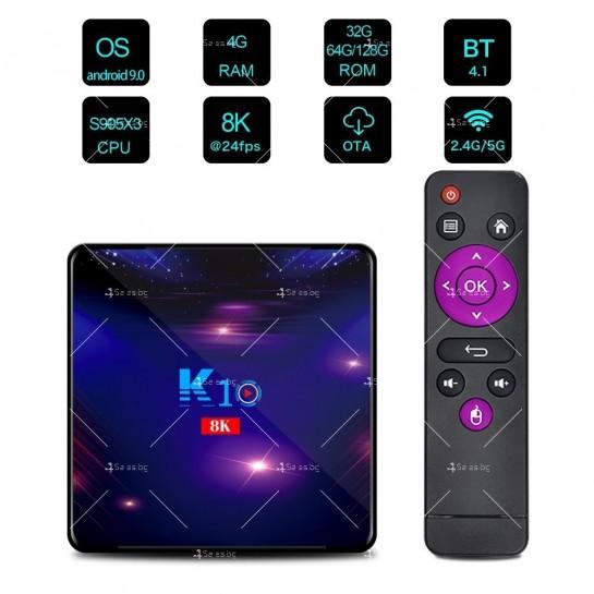 Смарт ТВ бокс K10 TV BOX Android 8K, 32GB, WiFi и Bluetooth