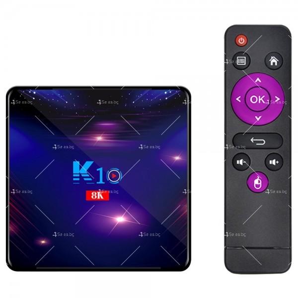 Смарт ТВ бокс K10 TV BOX Android 8K, 32GB, WiFi и Bluetooth 10