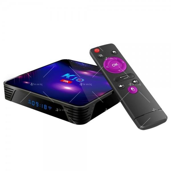 Смарт ТВ бокс K10 TV BOX Android 8K, 32GB, WiFi и Bluetooth 11