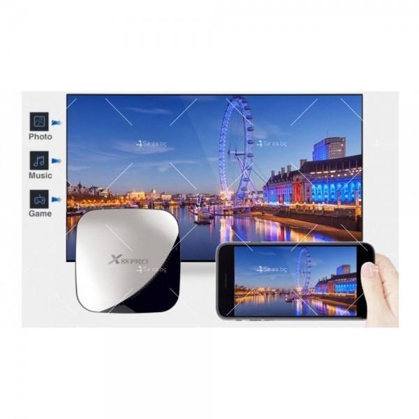 Иновативен Smart TV Box X88 Pro Android 9.0 8