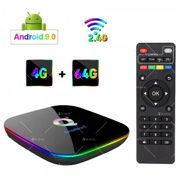 Супер Мощен Smart TV BOX Android 9.0 Q Plus и 6К резолюция