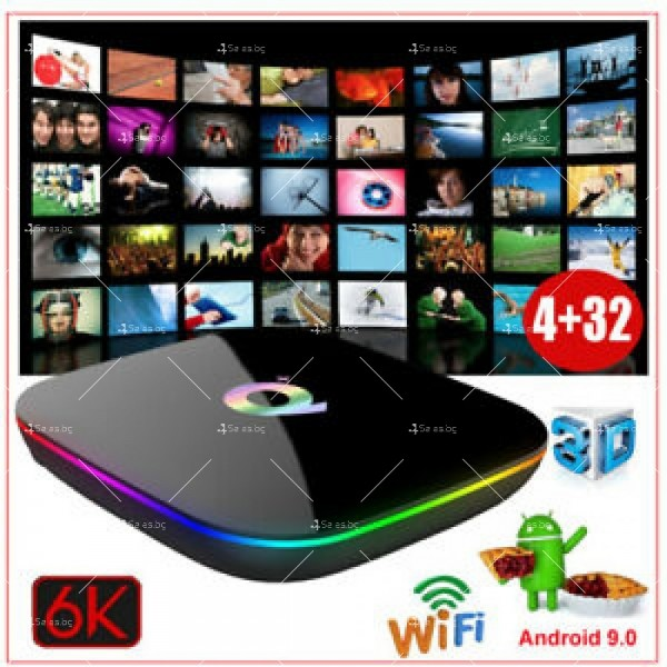 Супер Мощен Smart TV BOX Android 9.0 Q Plus и 6К резолюция 7