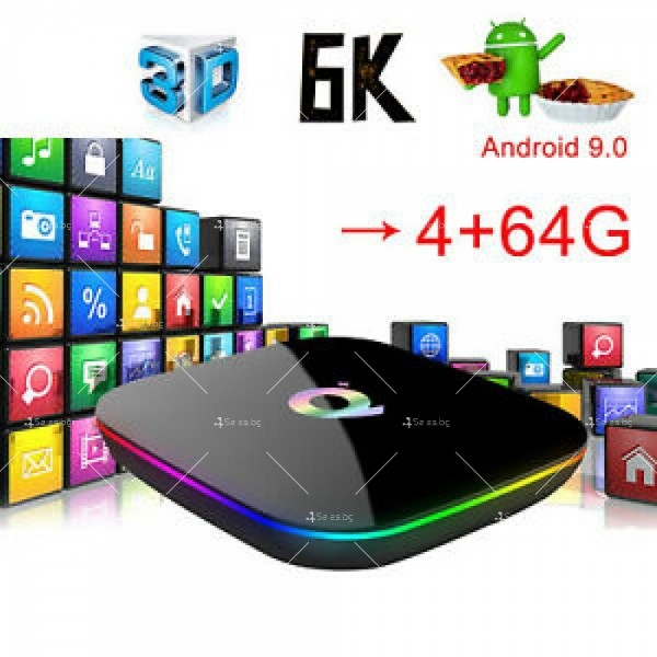 Супер Мощен Smart TV BOX Android 9.0 Q Plus и 6К резолюция 15