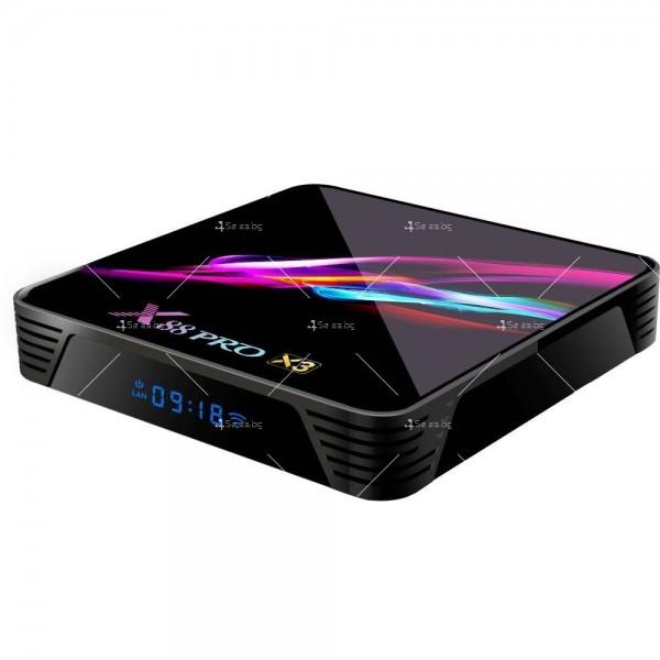Невероятен ТВ Бокс X88 PRO X3 Amlogic S905x3 4GB / 32GB 8K видео 4
