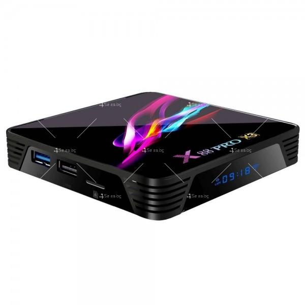 Невероятен ТВ Бокс X88 PRO X3 Amlogic S905x3 4GB / 32GB 8K видео 5