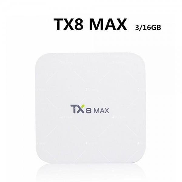 Малък смарт ТВ Бокс TX8 MAX Android 6.0 5