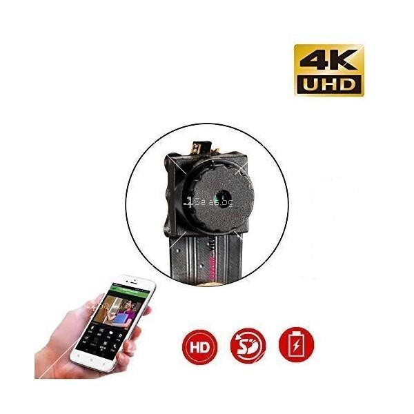 Wi Fi мини скрита камера с Full HD 4K качество на образа и антена V 89 IP13 8