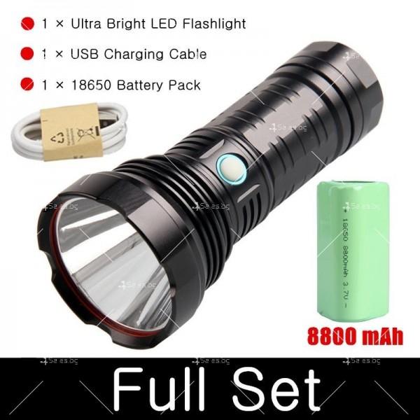 Ултра ярък и мощен LED фенер 50W Luminus SST40 FL72 2