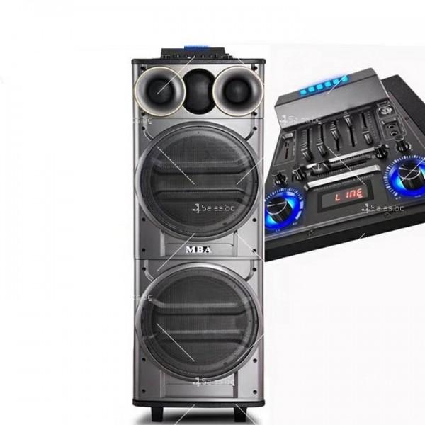 Тонколона с двоен 12-инчов бас Hi-Fi звукова система супер бас
