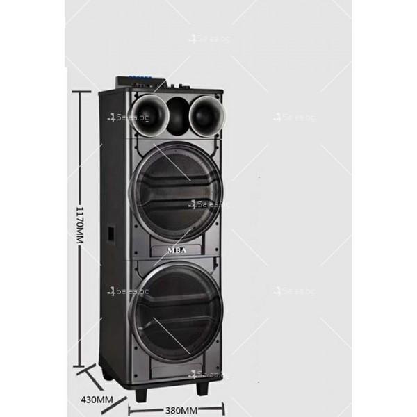 Тонколона с двоен 12-инчов бас Hi-Fi звукова система супер бас 3