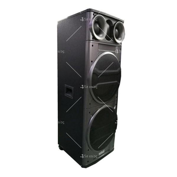 Тонколона с двоен 12-инчов бас Hi-Fi звукова система супер бас 5