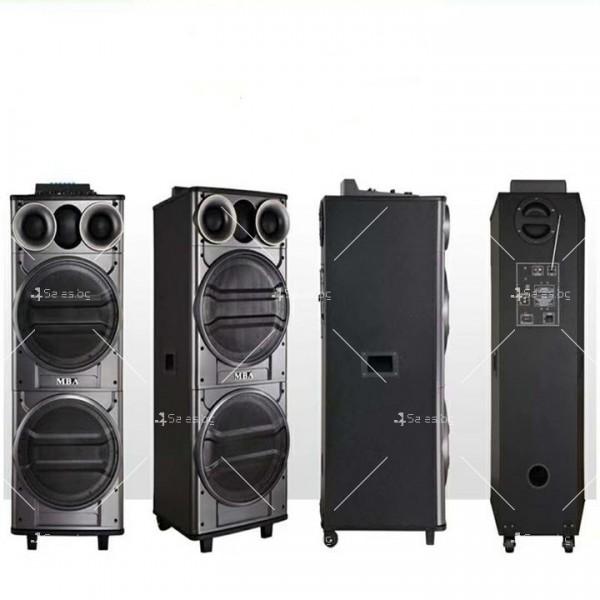 Тонколона с двоен 12-инчов бас Hi-Fi звукова система супер бас 8