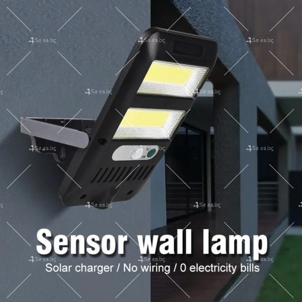 Водоустойчив соларен прожектор 36COB с 8W мощност H LED20 5