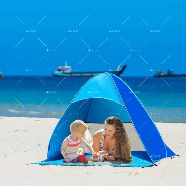 Саморазгъваща се лятна двуместна палатка за плаж или къмпинг PALAT5 3