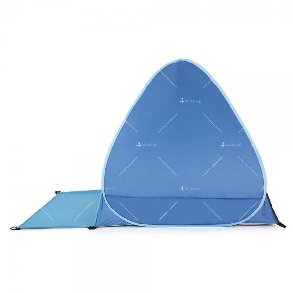 Саморазгъваща се лятна двуместна палатка за плаж или къмпинг PALAT5 5