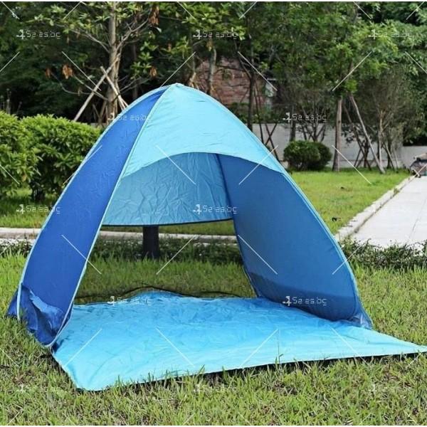 Саморазгъваща се лятна двуместна палатка за плаж или къмпинг PALAT5 6