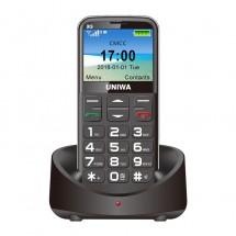 Мобилен телефон с големи клавиши, 3MP камера, фенерче, 1400 mAh батерия UNIWA 3G