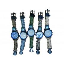 Тактически часовник за оцеляване паракорд 5 в 1 Rinnady