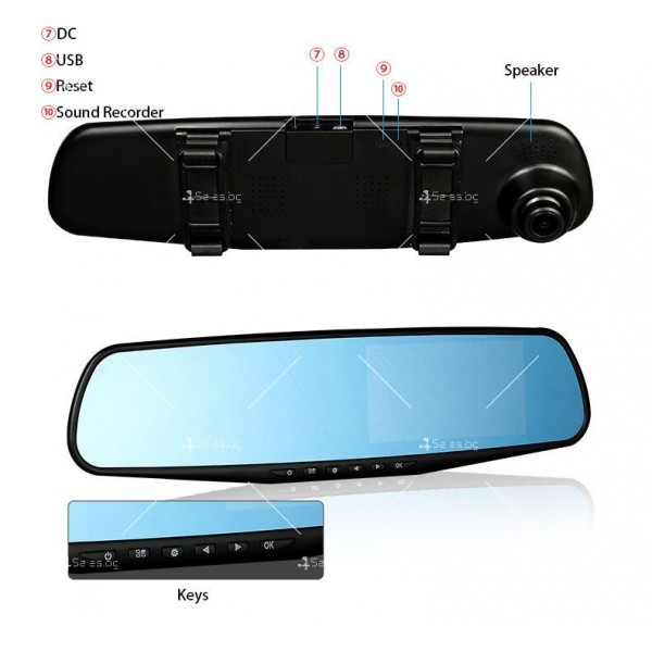 Видеорегистратор тип огледало за задно виждане DVR JPG 1080 P -8Mpx AC25 29